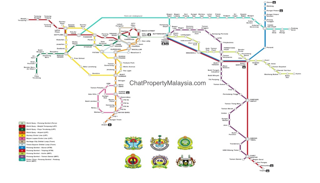Penang LRT map route masterplan