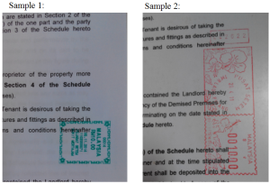 Sample Stamp Duty Paid