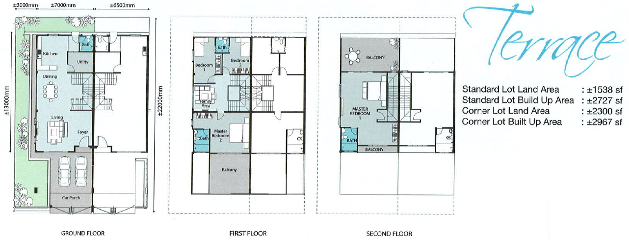 Terrace house floor plans house design plans for Terrace layout