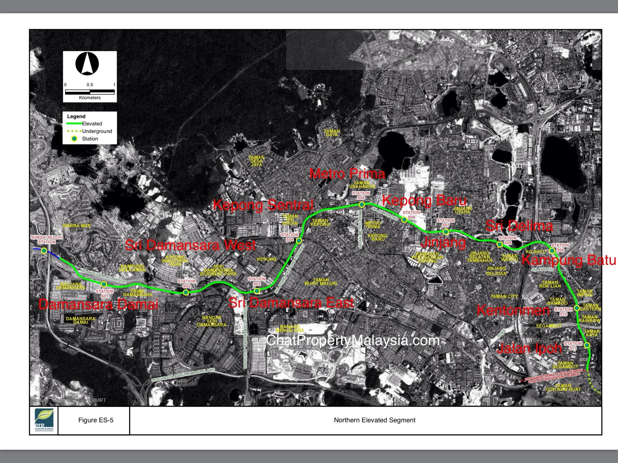 MRT Line 2 Alignment Route Map and Proposed Stations - Sungai Buloh-Serdang-Putrajaya Line SSP Line