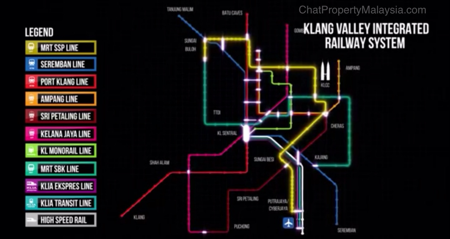 MRT Line 2 Alignment Route Map and Proposed Stations - Sungai Buloh-Serdang-Putrajaya Line SSP Line